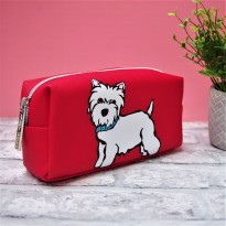 Westie Cosmetic Bag by Marc Tetro