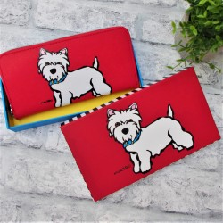 Westie Zipped Purse