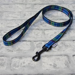 Blue Tartan Westie Lead - By Ancol