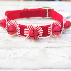 Christmas Bells Dog Collar Large