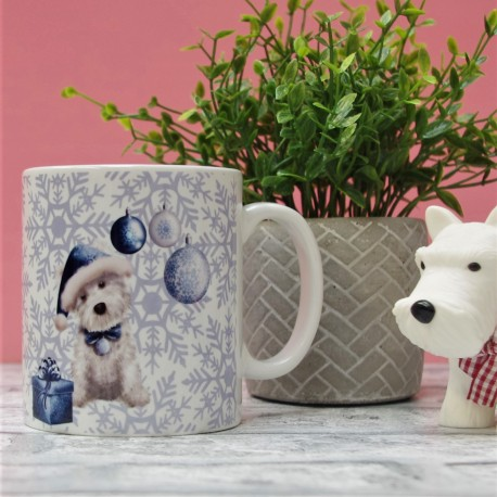 Winter Wishes Westie Mug