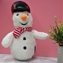 Cuddly Snowman Dog Toy