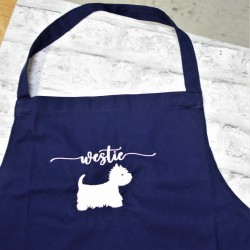 Westie Apron Embroiderered