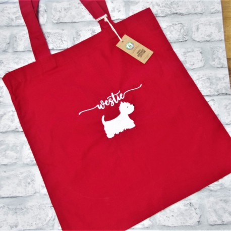Westie Tote Bag Embroidered