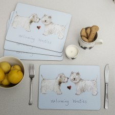 Westie Coasters & Placemats