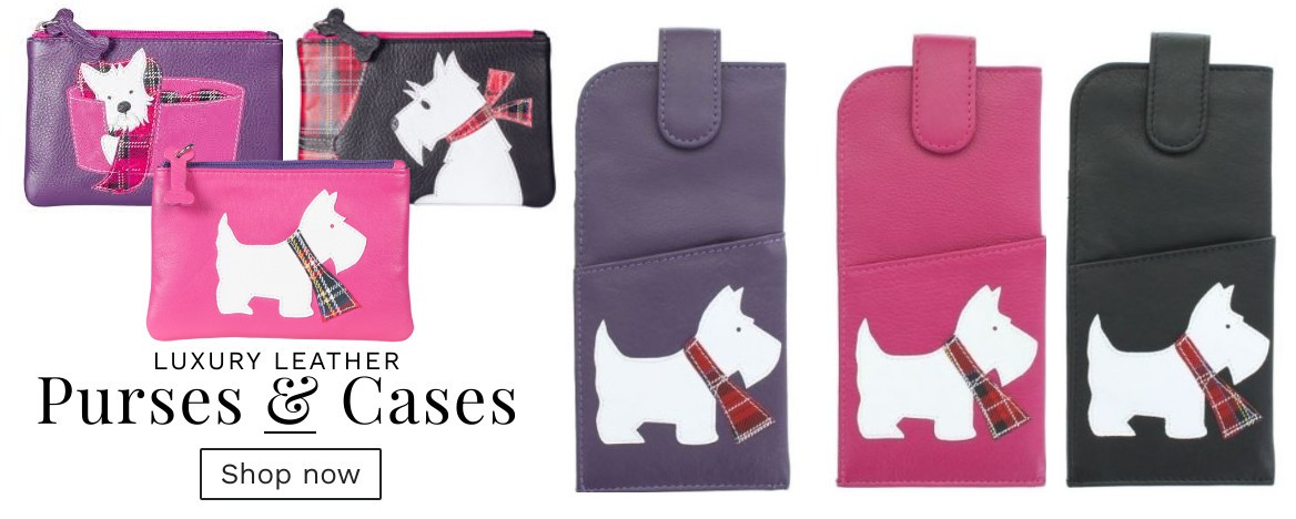 Luxury Westie Purses and cases